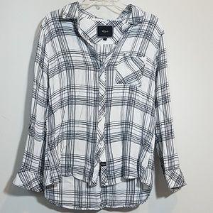 Rails Flannel Button down top